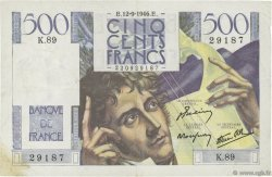 500 Francs CHATEAUBRIAND FRANCE  1946 F.34.06 TTB+