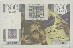 500 Francs CHATEAUBRIAND FRANCE  1953 F.34.11 TTB