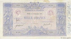 1000 Francs BLEU ET ROSE FRANCE  1910 F.36.24 TB+