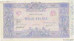1000 Francs BLEU ET ROSE FRANCE  1913 F.36.27 TB
