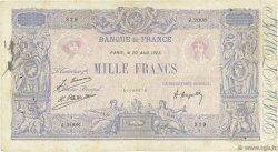 1000 Francs BLEU ET ROSE FRANCE  1925 F.36.41 B+