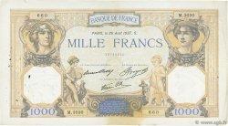 1000 Francs CÉRÈS ET MERCURE type modifié FRANCE  1937 F.38.03 TB