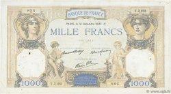 1000 Francs CÉRÈS ET MERCURE type modifié FRANCE  1937 F.38.07 TB