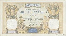 1000 Francs CÉRÈS ET MERCURE type modifié FRANCE  1937 F.38.08 TB+