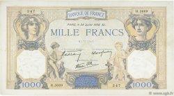 1000 Francs CÉRÈS ET MERCURE type modifié FRANCE  1938 F.38.25 TTB
