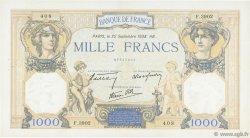 1000 Francs CÉRÈS ET MERCURE type modifié FRANCE  1938 F.38.27 TTB à SUP