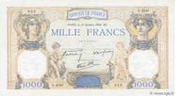 1000 Francs CÉRÈS ET MERCURE type modifié FRANCE  1938 F.38.29 SUP
