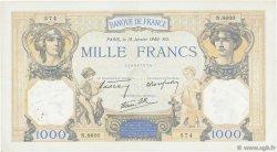 1000 Francs CÉRÈS ET MERCURE type modifié FRANCE  1940 F.38.41 TTB