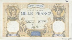 1000 Francs CÉRÈS ET MERCURE type modifié FRANCE  1940 F.38.43 TB