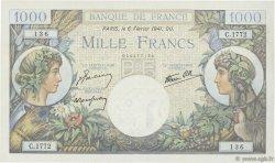 1000 Francs COMMERCE ET INDUSTRIE FRANCE  1941 F.39.04 TTB+