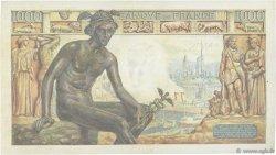 1000 Francs DÉESSE DÉMÉTER FRANCE  1942 F.40.11 TTB+