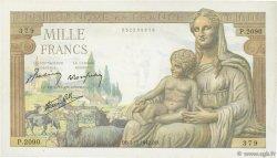 1000 Francs DÉESSE DÉMÉTER FRANCE  1942 F.40.12 TTB+
