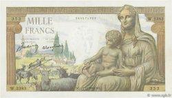 1000 Francs DÉESSE DÉMÉTER FRANCE  1942 F.40.14 SUP