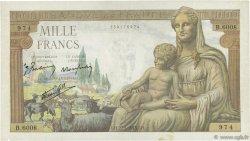1000 Francs DÉESSE DÉMÉTER FRANCE  1943 F.40.25 TB