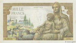 1000 Francs DÉESSE DÉMÉTER FRANCE  1943 F.40.40 TTB+