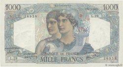 1000 Francs MINERVE ET HERCULE FRANCE  1945 F.41.03 TTB+