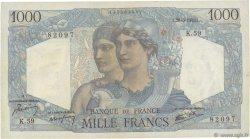 1000 Francs MINERVE ET HERCULE FRANCE  1945 F.41.05 pr.SUP