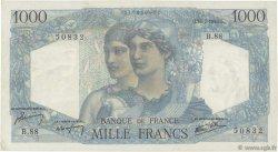 1000 Francs MINERVE ET HERCULE FRANCE  1945 F.41.06 TTB