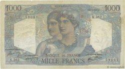 1000 Francs MINERVE ET HERCULE FRANCE  1947 F.41.18 TB