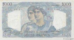 1000 Francs MINERVE ET HERCULE FRANCE  1948 F.41.23 TTB