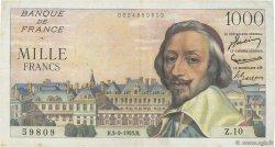 1000 Francs RICHELIEU FRANCE  1953 F.42.02 TTB