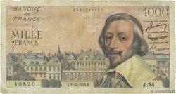 1000 Francs RICHELIEU FRANCE  1954 F.42.09 B+