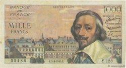 1000 Francs RICHELIEU FRANCE  1955 F.42.11 pr.TTB