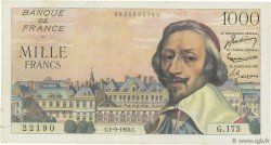 1000 Francs RICHELIEU FRANCE  1955 F.42.15 TTB