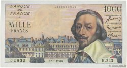 1000 Francs RICHELIEU FRANCE  1956 F.42.18 SUP+