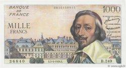 1000 Francs RICHELIEU FRANCE  1956 F.42.20 SUP