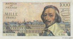 1000 Francs RICHELIEU FRANCE  1956 F.42.20 TTB