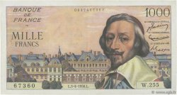 1000 Francs RICHELIEU FRANCE  1956 F.42.20 TTB