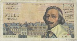 1000 Francs RICHELIEU FRANCE  1957 F.42.25 TB+