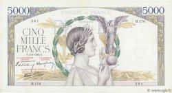 5000 Francs VICTOIRE Impression à plat FRANCE  1939 F.46.05 TTB à SUP