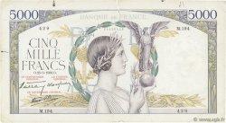5000 Francs VICTOIRE Impression à plat FRANCE  1939 F.46.06 pr.TB