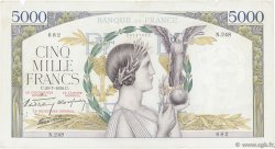 5000 Francs VICTOIRE Impression à plat FRANCE  1939 F.46.08 TB+