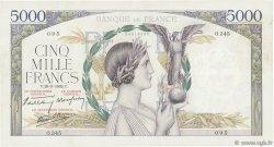 5000 Francs VICTOIRE Impression à plat FRANCE  1939 F.46.12 TTB