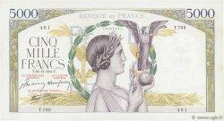 5000 Francs VICTOIRE Impression à plat FRANCE  1941 F.46.31 pr.SUP