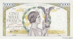 5000 Francs VICTOIRE Impression à plat FRANCE  1942 F.46.32 TTB+