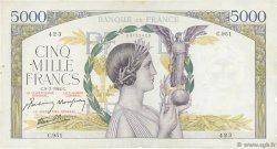 5000 Francs VICTOIRE Impression à plat FRANCE  1942 F.46.38 pr.TTB