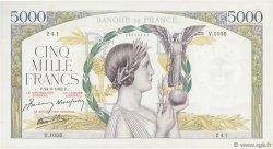 5000 Francs VICTOIRE Impression à plat FRANCE  1942 F.46.41 TTB+