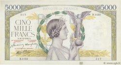 5000 Francs VICTOIRE Impression à plat FRANCE  1942 F.46.45 TTB