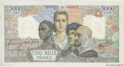 5000 Francs EMPIRE FRANCAIS FRANCE  1942 F.47.06 pr.TTB