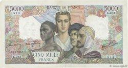 5000 Francs EMPIRE FRANCAIS FRANCE  1945 F.47.12 TB+