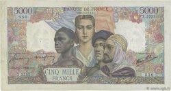 5000 Francs EMPIRE FRANÇAIS FRANCE  1946 F.47.53 pr.TTB