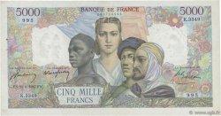 5000 Francs EMPIRE FRANÇAIS FRANCE  1947 F.47.59 TTB