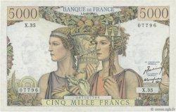 5000 Francs TERRE ET MER FRANCE  1949 F.48.02 TTB