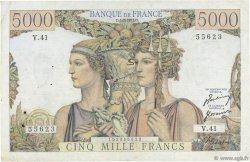 5000 Francs TERRE ET MER FRANCE  1951 F.48.03 TB+