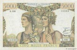 5000 Francs TERRE ET MER FRANCE  1952 F.48.06 TTB