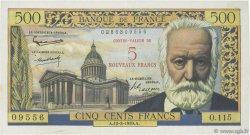5 NF sur 500 Francs Victor HUGO FRANCE  1959 F.52.02 TTB+